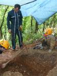 Antoine Chancerel, les fouilles de la grotte Mykolas au Bugue